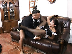 Dick sucking French maid wants to get fucked